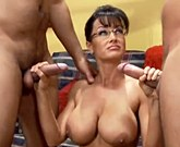 Lisa Ann – Business women fucked by two soldier