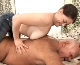 Grandpa loves creampie