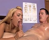 Deepthroat blowjob from sexy massage girl