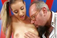 Lewd grandpa nails teen chick