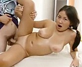 RubaTeen natural tits asian fucked creampied european style