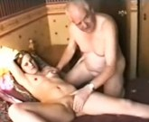 Old grandpa having sex with young girl