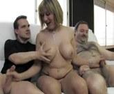 Nuria, Trio doble vaginal a madura